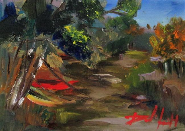 Art: Kayaks by the Stream by Artist Delilah Smith