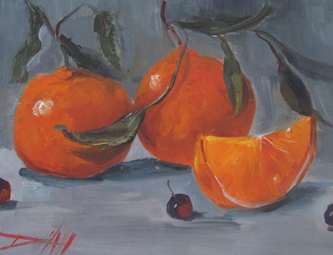 Art: Orange Still Life No 6 by Artist Delilah Smith