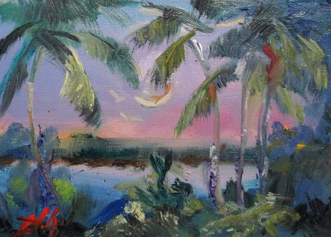 Art: Tropical Moon by Artist Delilah Smith