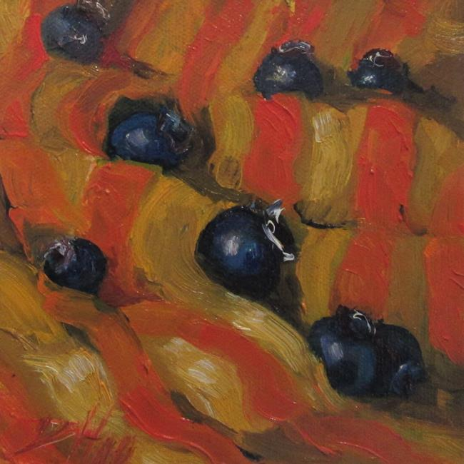 Art: Blueberries and Stripes by Artist Delilah Smith