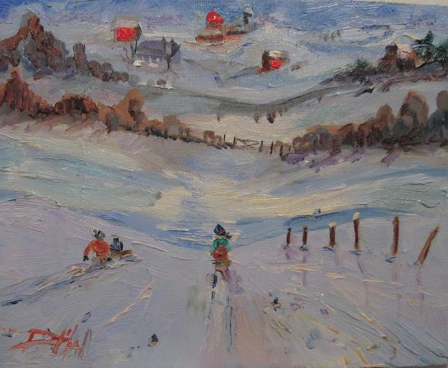 Art: Snow Day-sold by Artist Delilah Smith