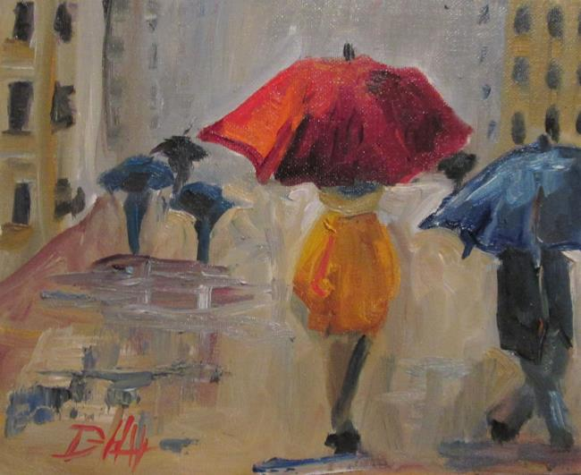Art: City Rain No. 4 by Artist Delilah Smith