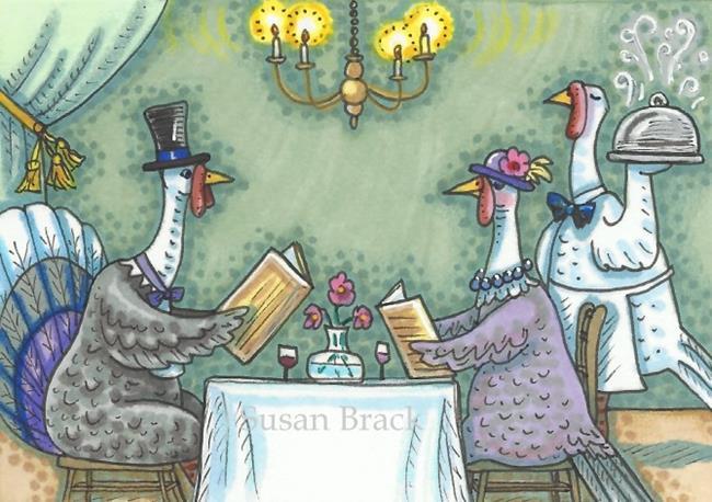 Art: FINE DINING by Artist Susan Brack