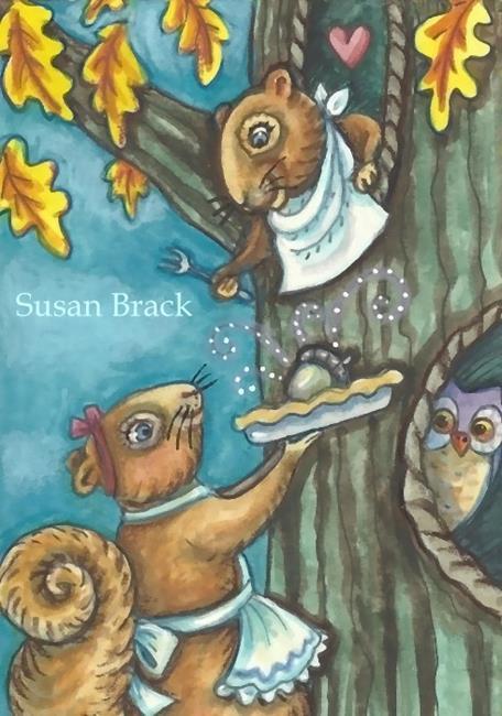 Art: FOR LOVE OF AN ACORN PIE by Artist Susan Brack