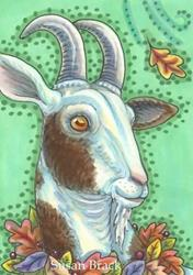 Art: GOAT OF AUTUMN by Artist Susan Brack