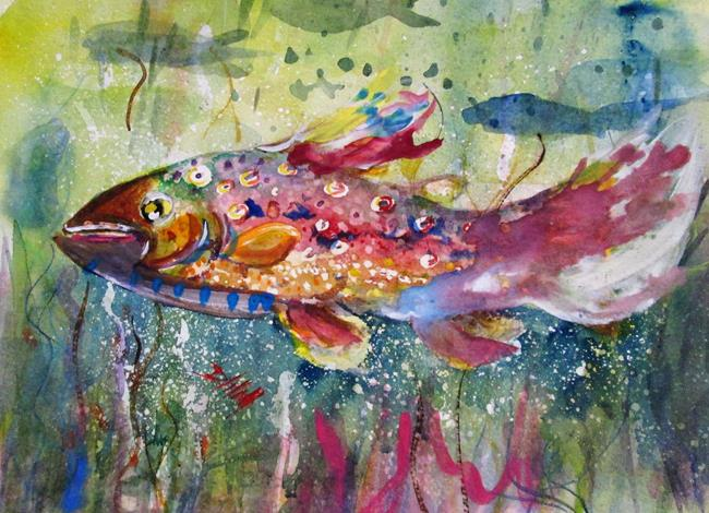 Art: Spotted Fish by Artist Delilah Smith