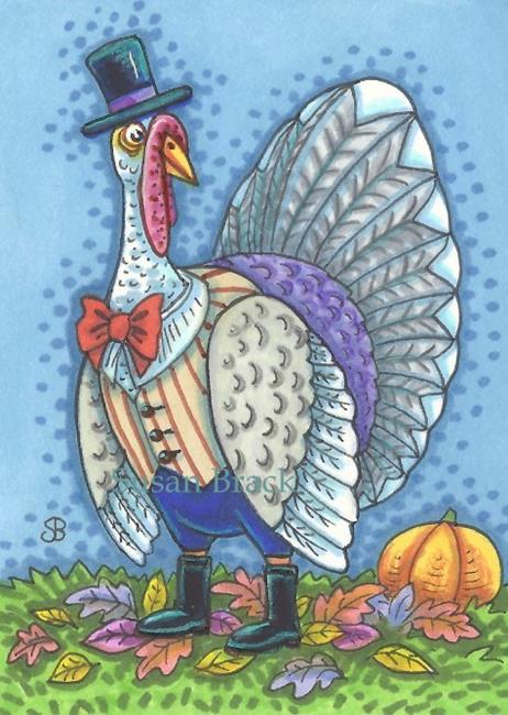 Art: MR. THOMAS TURKEY by Artist Susan Brack