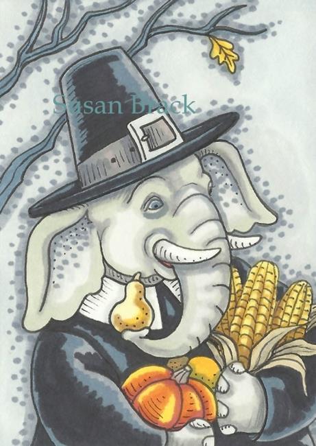 Art: TRUNK FULL OF A HAPPY THANKSGIVING by Artist Susan Brack