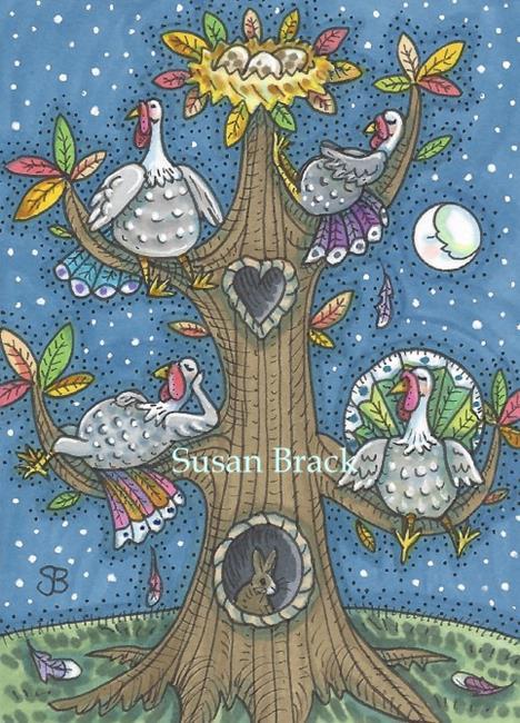 Art: TURKEY TREE by Artist Susan Brack