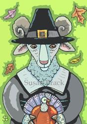 Art: THANKSGIVING RAM by Artist Susan Brack