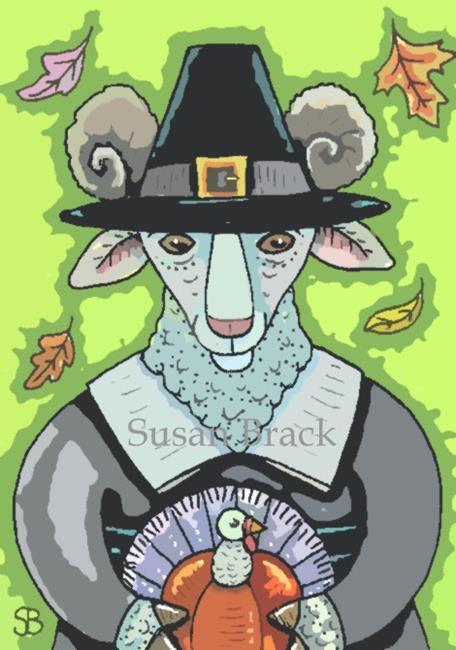 Art: THANKSGIVING RAM by Artist Susan Brack