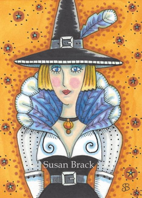 Art: TURKEY FEATHER WITCH by Artist Susan Brack