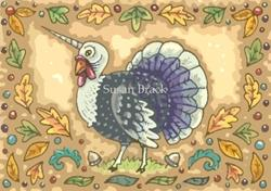 Art: THANKSGIVING UNICORN TURKEY by Artist Susan Brack