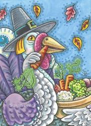 Art: EAT YOUR VEGGIES Turkey by Artist Susan Brack