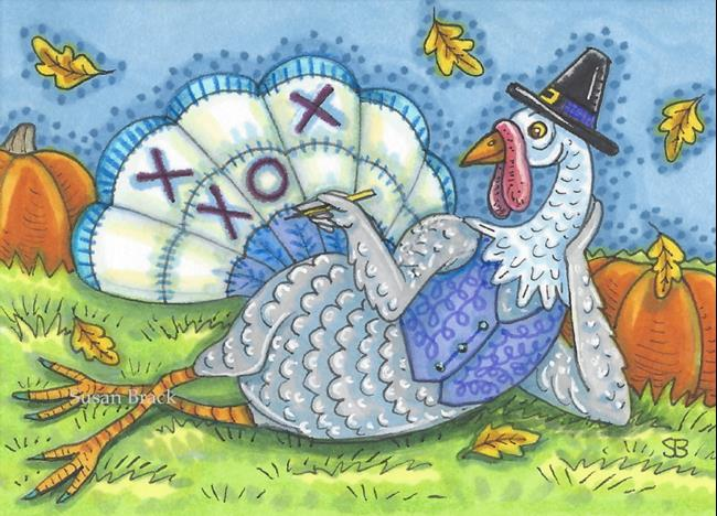 Art: TIC TAC TURKEY by Artist Susan Brack