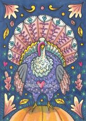 Art: TURKEY TAPESTRY by Artist Susan Brack