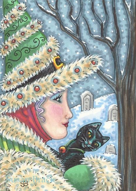 Art: WITCH'S WINTER WALK by Artist Susan Brack