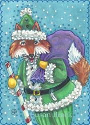 Art: FOXY SANTA by Artist Susan Brack