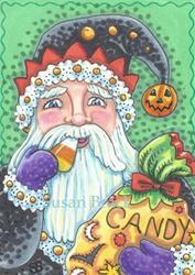 Art: HAPPY HALLOMAS BELSNICKLE by Artist Susan Brack