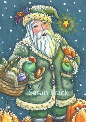 Art: SNOW ON THE PUMPKINS by Artist Susan Brack