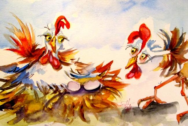 Art: On the Job, Chickens by Artist Delilah Smith