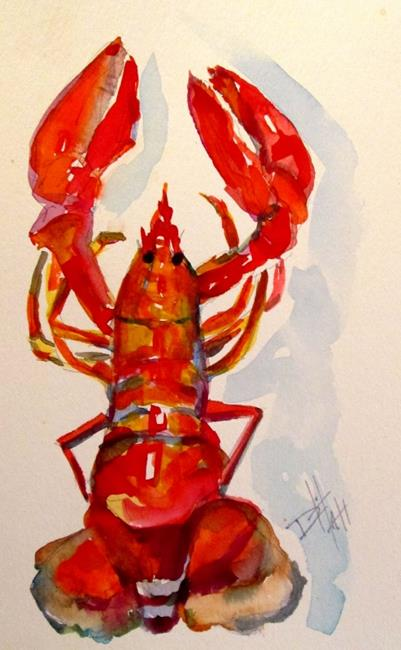 Art: Red Lobster by Artist Delilah Smith