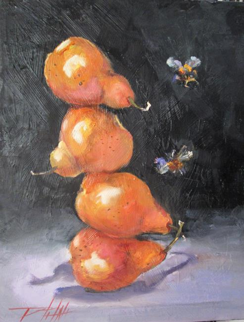 Art: Pear Still Life with Bees by Artist Delilah Smith