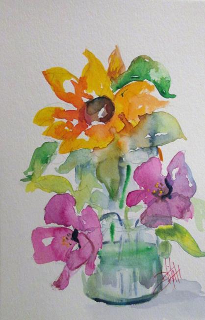 Art: Flowers in Water by Artist Delilah Smith
