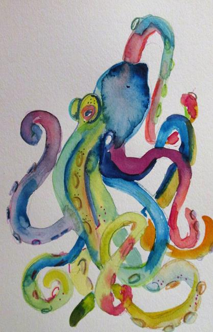 Art: Octopus No.2 by Artist Delilah Smith