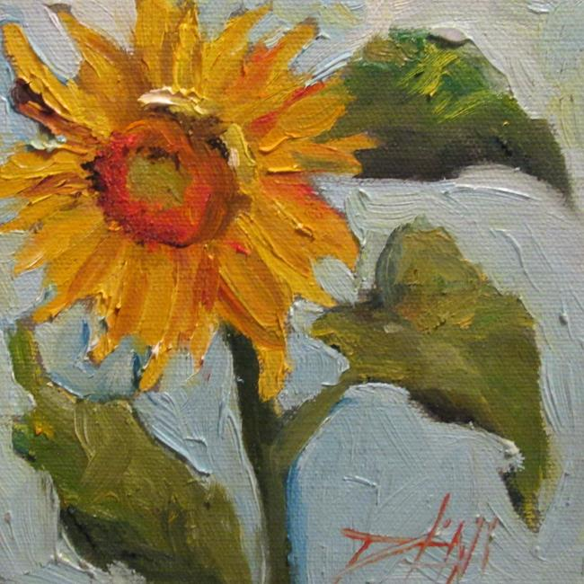 Art: Cheerful Sunflower by Artist Delilah Smith