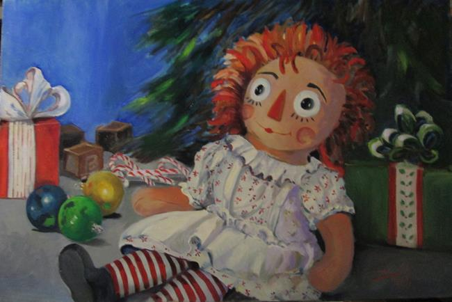 Art: Raggedy Ann Christmas by Artist Delilah Smith