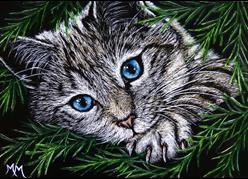 Art: Tree Spy by Artist Monique Morin Matson