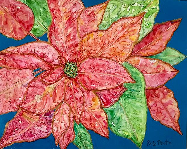 Art: Poinsettia - sold by Artist Ulrike 'Ricky' Martin