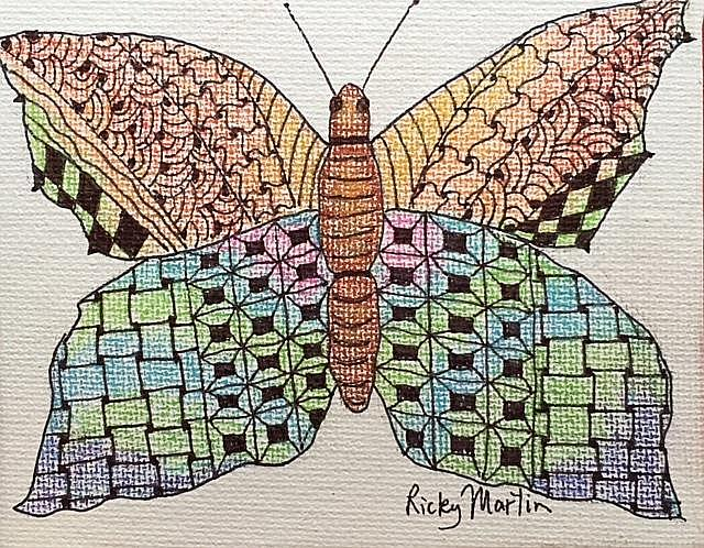 Art: Butterfly - sold by Artist Ulrike 'Ricky' Martin