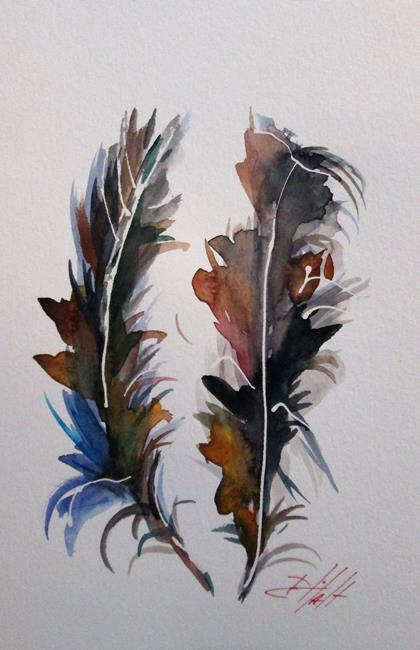 Art: Turkey Feathers by Artist Delilah Smith