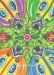 Art: LADYBIRDS WITH SPRING ZING by Artist Susan Brack