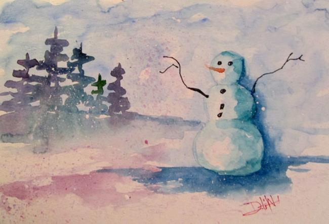 Art: Snowman by Artist Delilah Smith