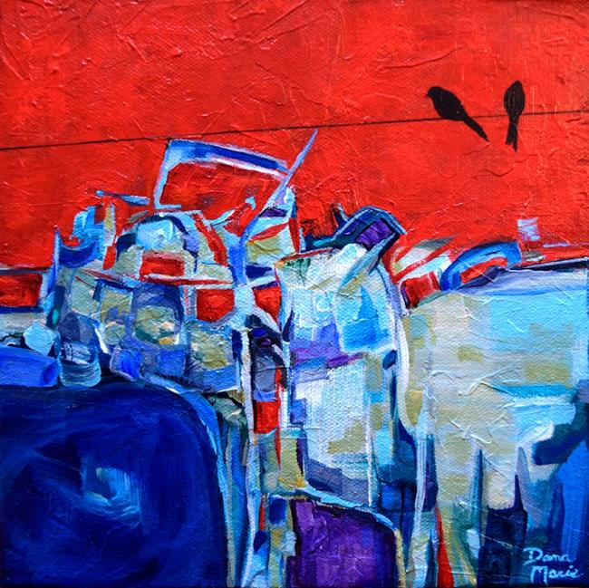 Art: City by the Bay ~ Birds on a Wire Series - Sold by Artist Dana Marie