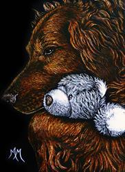 Art: Teddy Bear Comfort by Artist Monique Morin Matson