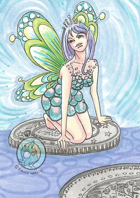 Art: Fairy Coins by Artist Emily J White