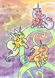 Art: Unicorn Meeting by Artist Emily J White