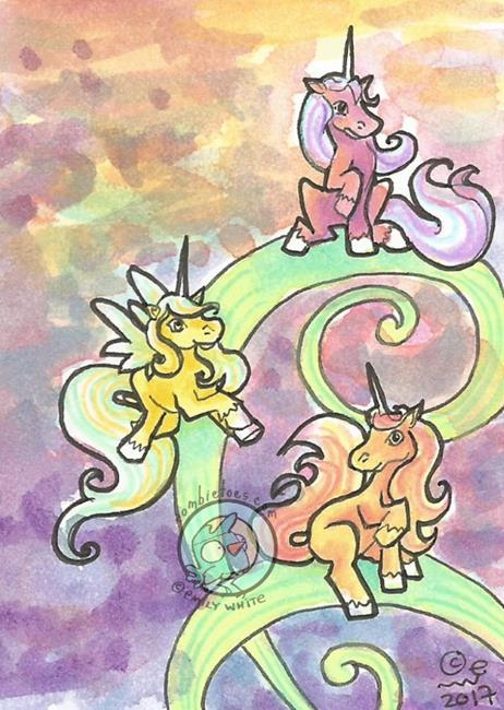 Art: Unicorn Meeting by Artist Emily J White