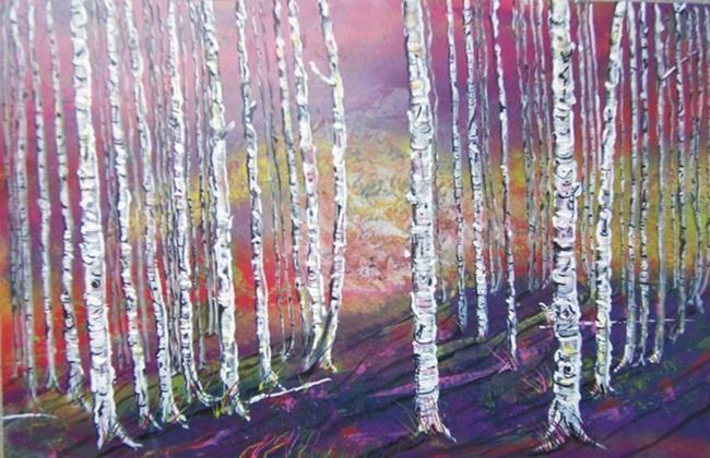 Art: Aspen Trees by Leonard G. Collins by Artist Leonard G. Collins