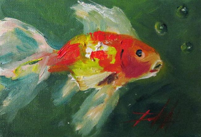 Art: Gold Fish No.3-sold by Artist Delilah Smith