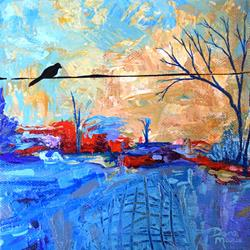 Art: The Road Less Traveled - Diptych Painting 1 by Artist Dana Marie