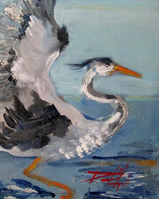 Art: Blue Heron No.4 by Artist Delilah Smith