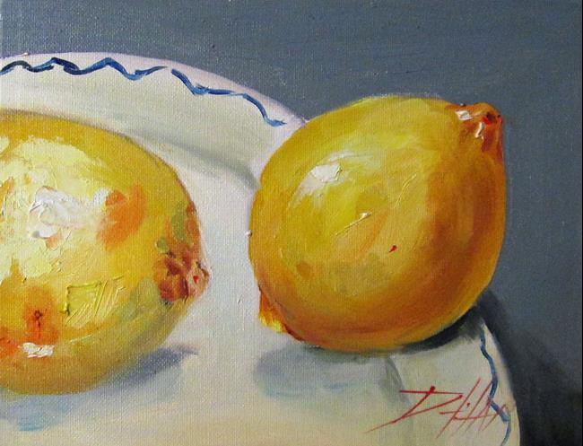Art: Lemon Still Life-sold by Artist Delilah Smith