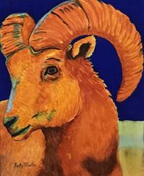 Art: Big Horn Sheep - sold by Artist Ulrike 'Ricky' Martin