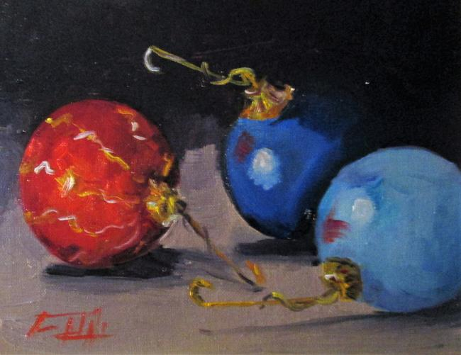 Art: Christmas Ornaments-sold by Artist Delilah Smith
