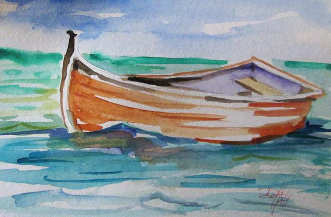 Art: Row Boat No. 6 by Artist Delilah Smith